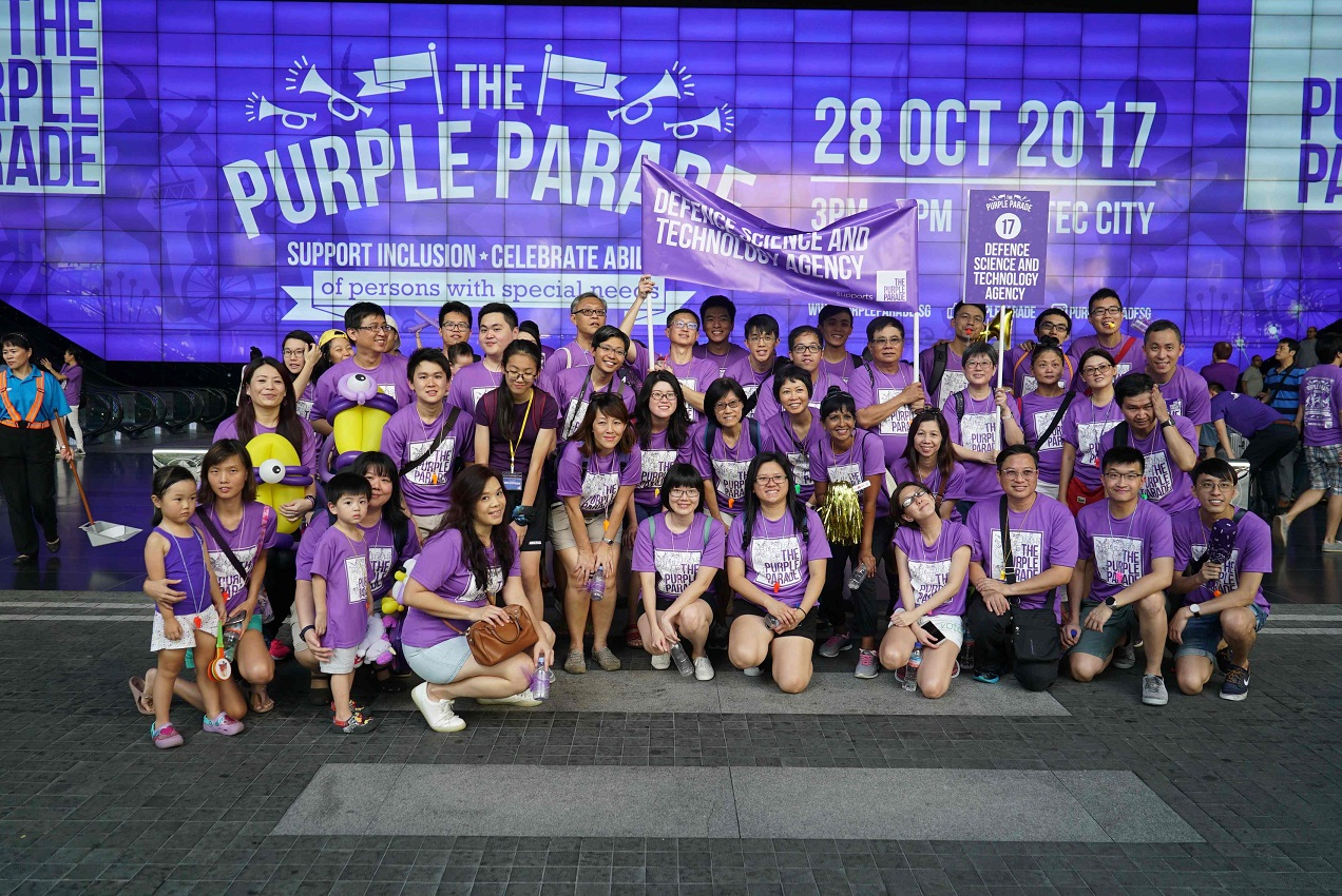 Parading in Purple